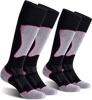 FLOSO/® Womens//Ladies Ski Socks Pack Of 2