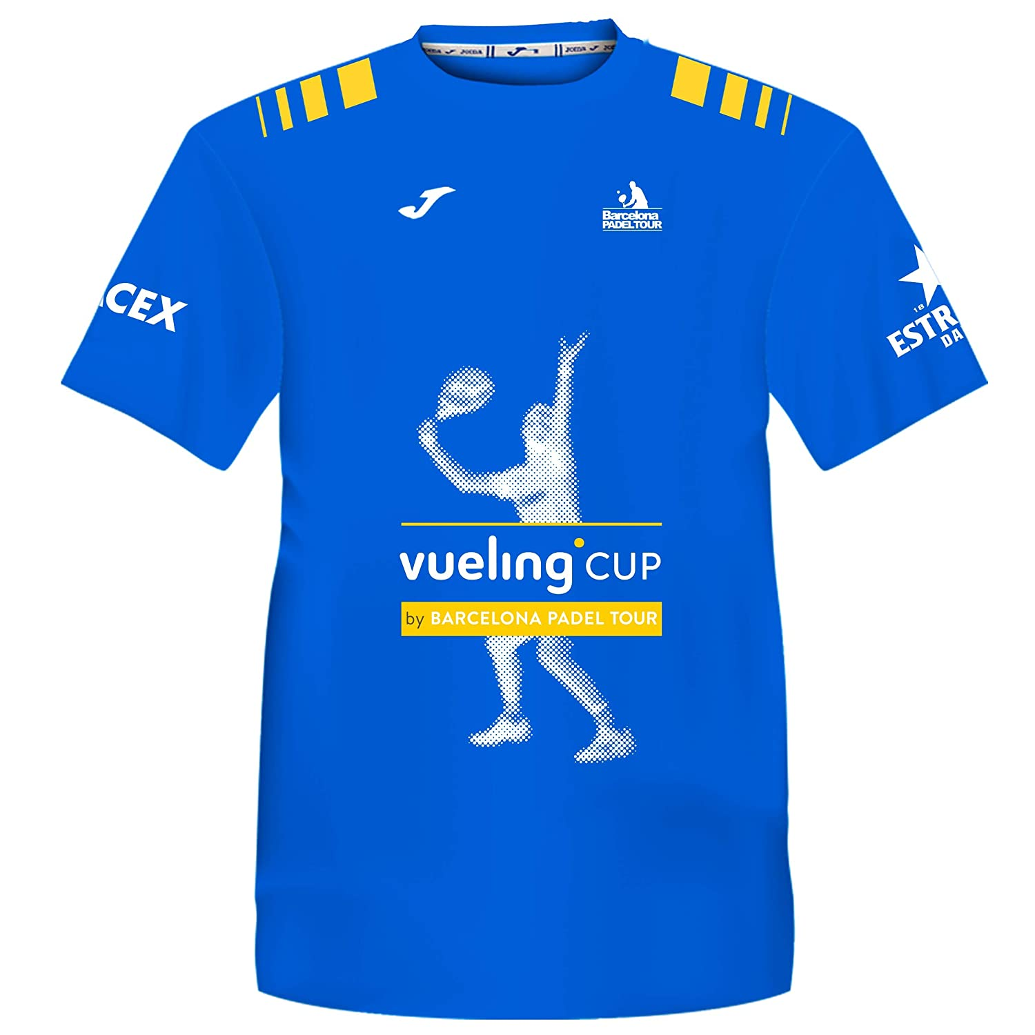 Barcelona Padel Tour T-Shirt Manches Courtes Homme Joma Vueling Cup