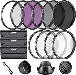 Neewer - 2724571536635 67MM Complete Lens Filter Accessory Kit for Lenses with 67MM Filter Size: UV CPL FLD Filter Set + M...