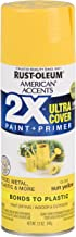 Rust-Oleum 327880 American Accents Spray Paint, Gloss Sun Yellow,12 oz