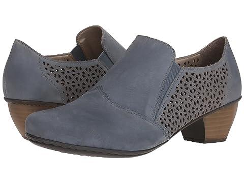 Womens 41760 Loafers, Blue Rieker