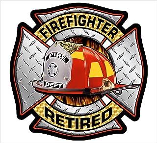 Firefighter Maltese Retired Reflective Diamod Decal Vinyl Sticker 4