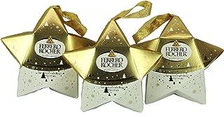 Ferrero Rocher Fine Hazelnut Chocolate Christmas Star, 1.3 ounces each, 3 Pack