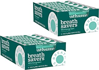 BREATH SAVERS Sugar Free Mints, Wintergreen, 0.75 Ounce Roll (Pack of 24)