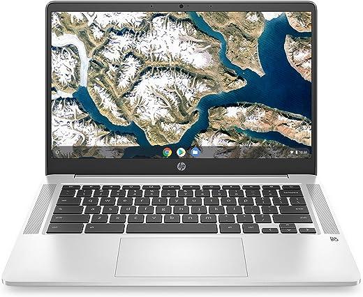 "2020 Flagship HP 14 Chromebook Laptop Computer 14"" HD SVA Anti-Glare Display Intel Celeron Processor 4GB DDR4 64GB eMMC Backlit WiFi Webcam Chrome OS (Renewed)"