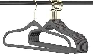 Zhuanjiao Premium Velvet Hangers 20 Pack Heavy Duty - Hangers Non Slip Velvet Suit Hangers Gray -Space Saving Hangers