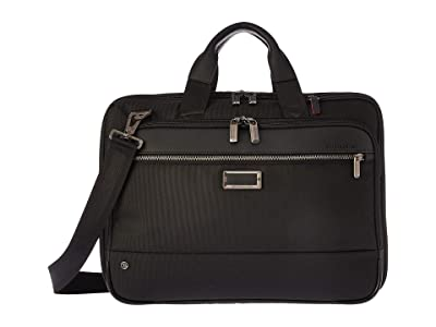 Briggs & Riley @work Medium Expandable Brief (Black) Briefcase Bags