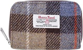 Harris Tweed Plaid Tartan Zipped Wallet Card Coin Purse