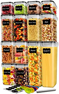 14 Pack Cereal Containers Storage Set, DDF iohEF Airtight...