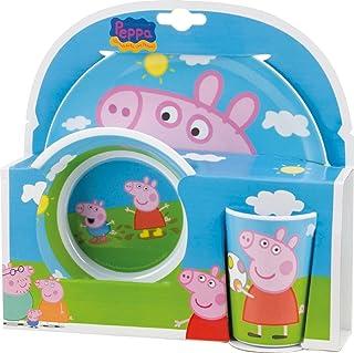 Peppa Pig- Vajilla Infantil, 3 Piezas, Estampada, Centimeters (BBS 748690)