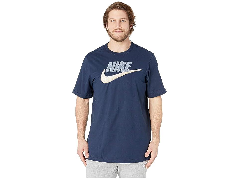 Nike Big Tall NSW Brand Mark Tee (Obsidian/Armory Blue/Light Cream) Men