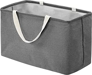 Amazon Basics Panier de rangement en tissu Grand rectangle Gris anthracite