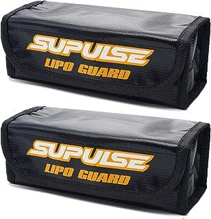 SUPULSE Lipo Storage Bag Fireproof Explosionproof, Lipo Safe Bag for Lithium Battery, Lipo Battery Guard Fireproof for Cha...