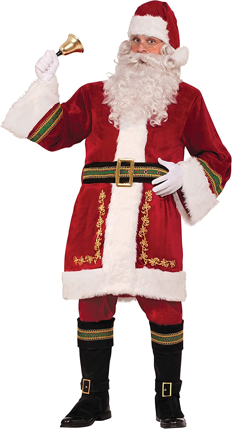 Mens Santa Claus Costume Costume Christmas Festive Seasonal Fancy Dress Cosplay Chest Size 44
