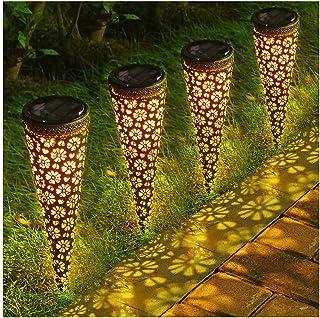 Litake LED Solar Ground Stake Lights, LED Solar Pathway Lights Outdoor, Waterproof Light Sensor Decorative Solar Garden Li...