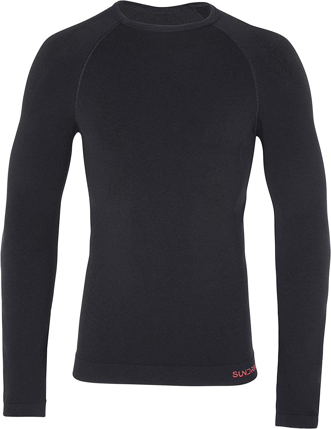 Sundried Mens Compression Long Sleeve Training Top Base Layer for Gym Running Bodybuilding Fitness Wear