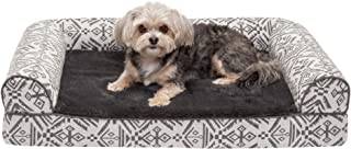 Furhaven Pet Dog Bed | Memory Foam Plush Kilim Southwest Home Decor Traditional Sofa-Style Living Room Couch Pet Bed w/Rem...