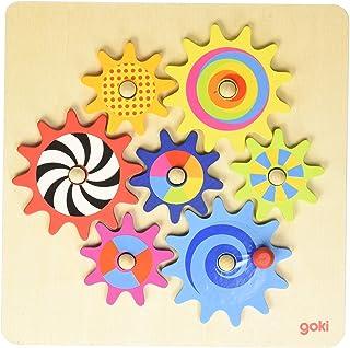Zahnradspiel: 20,5 x 20,5 x cm, Holz, 8 Teile, per Stück