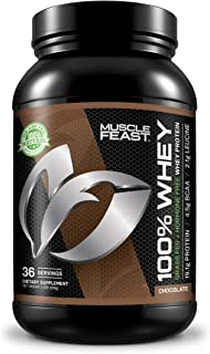 100% Whey Protein | Grass Fed & Hormone Free | Blend of Concentrate, Isolate, and Hydrolyzed Whey Protein (2lb, Chocolate)