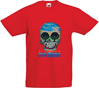 lepni.me Kids T-Shirt Skull Nature - Save The Planet, Support Wildlife
