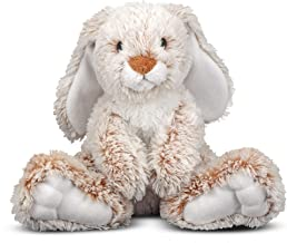 """Melissa & Doug Burrow Bunny Rabbit Stuffed Animal (Washable Surface, Soft Fabric , 9"""" H x 10"""" L x 6"""" W, Great Gift for Girls and Boys - Best for 3, 4, 5 Year Olds and Up)"""