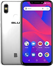 "BLU R2 Plus 2019-6.2"" HD+ Display Smartphone, 16GB+2GB RAM –Silver (Renewed)"