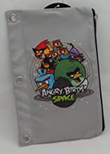 Angry Birds Space Zippered Pencil Pouch / Case Gray Background