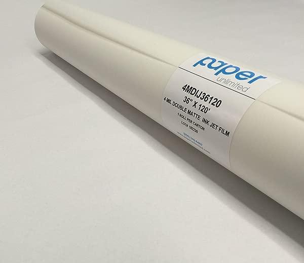 4 Mil Double Matte Inkjet Mylar Film 36 X 120 2 Core Roll 1 Roll Per Carton