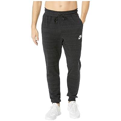Nike NSW AV15 Knit Jogger (Black/Heather/White) Men