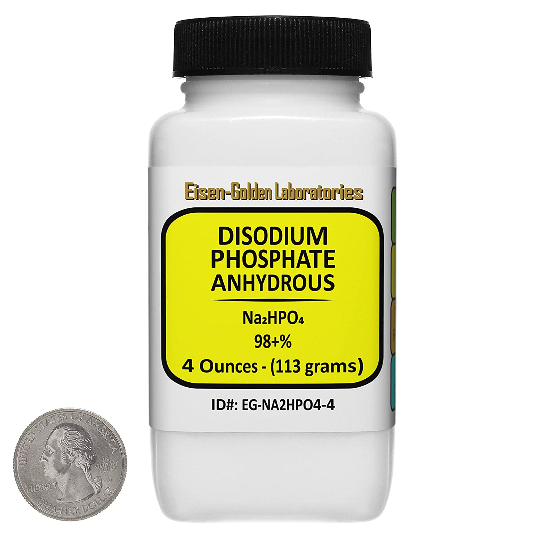 Disodium Phosphate [Na2HPO4] 98+% Food Grade Powder 4 Oz in a Bottle USA