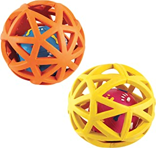 Gor Pets Rubber Extreme Giggler Ball Toy for Dogs 16 cm (Assorted Colours)
