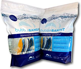 Bubble Bandit Dishwasher Detergent with Natural Phosphates. 2 Pack (7.5 lbs.)-