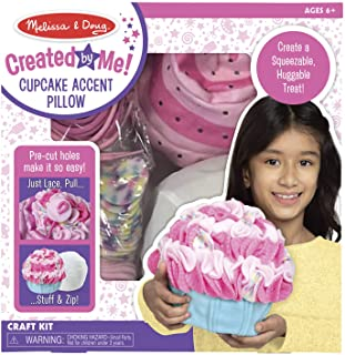Melissa & Doug Created by Me Cupcake Accent Pillow Lacing Craft Kit (125 Fleece Buttons, 20 Lacing Cords)