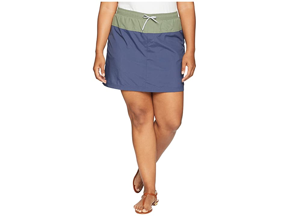 Columbia Plus Size Sandy River Skort (Nocturnal/Cypress/Columbia Grey) Women
