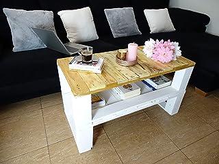 Dydaya Mesa de Centro de Palets & Original & Unica para Salon & Sala de Estar & Dormitorio & Sofa