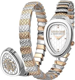 ROBERTO CAVALLI Women's RC-79 Swiss Quartz Watch with Stainless Steel Strap, Rose Gold, 16 (Model: RV1L092M0056)