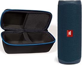JBL Flip 5 Waterproof Portable Wireless Bluetooth Speaker Bundle with divvi! Protective Hardshell Case - Blue