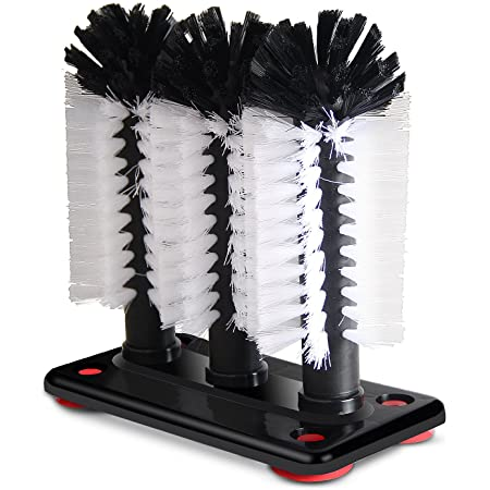 Glass Washer Brush Cleaner - 3 Brushes per Base