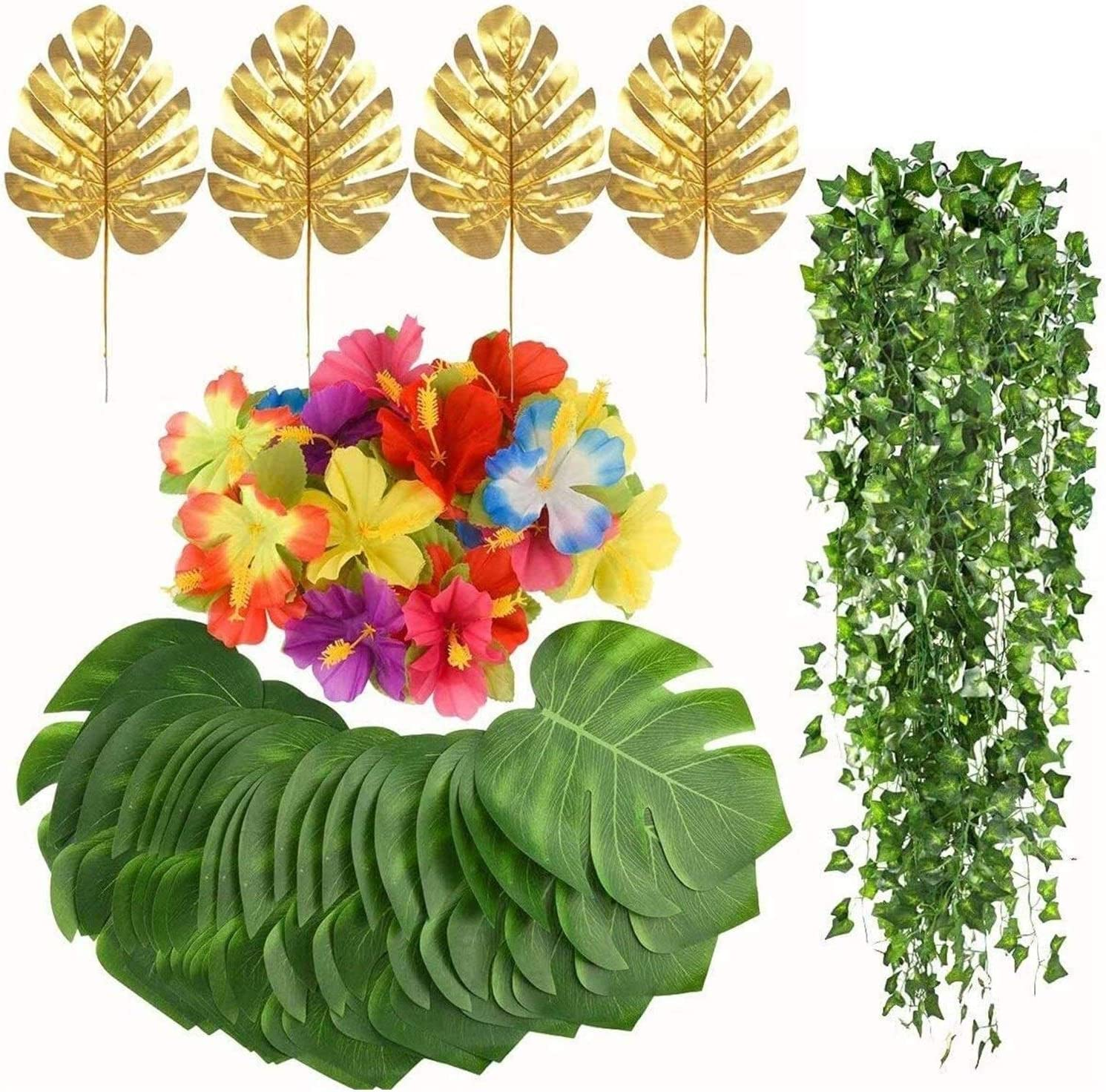 Ranking TOP12 SUCICI Artificial Tropical Leaves Faux Gold Pl Leaf shop Ivy Monstera