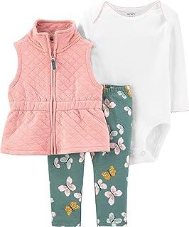 Baby Girls' 3 Piece Vest Little Jacket Set
