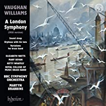 Vaughan Williams : A London Symphony et autres oeuvres. Watts, Bevan, Whately, Brabbins.