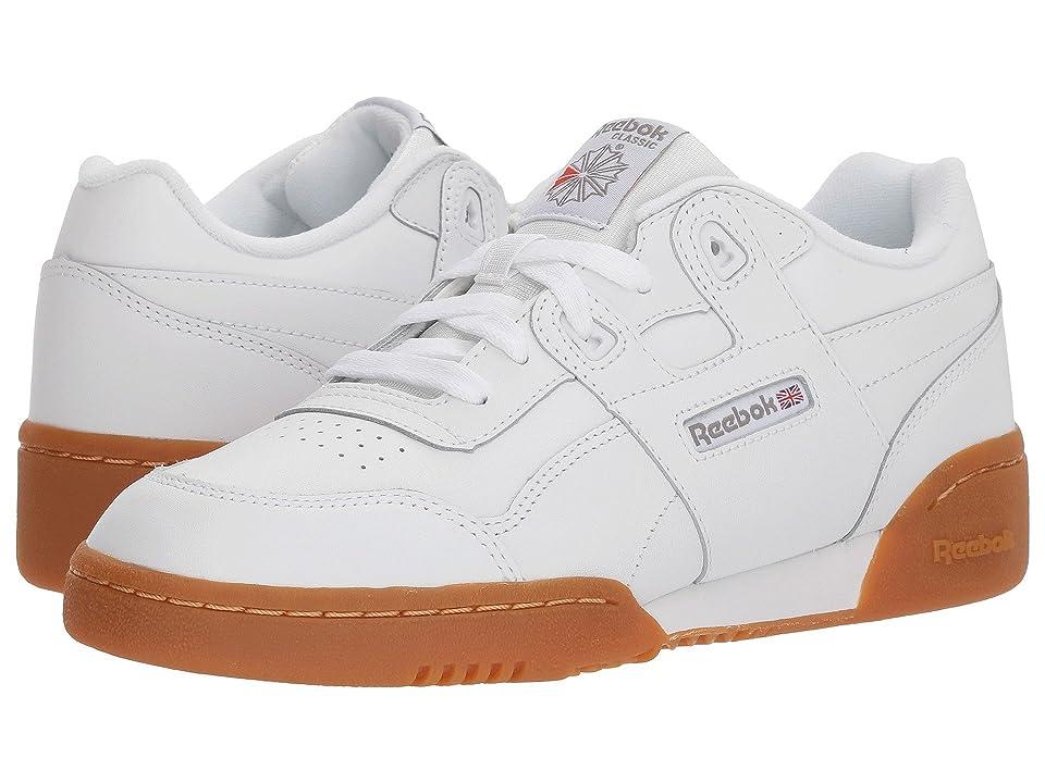 Reebok Kids Workout Plus (Big Kid) (White/Gum) Kids Shoes