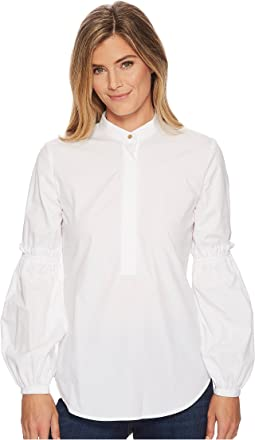 LAUREN Ralph Lauren - Broadcloth Bishop-Sleeve Shirt
