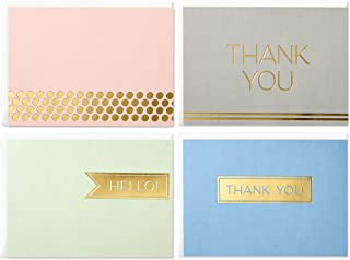 Hallmark Boxed Thank You Cards Assortment, Classic Gold Foil (Four Assorted Designs, 40 Cards with Envelopes)