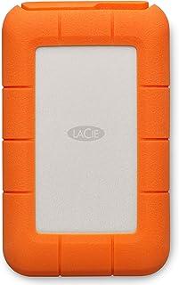 LaCie Rugged USB-C 4 To, Disque Dur Externe Portable HDD, USB 3.0, Résistant aux chutes, chocs, la poussière, la pluie, po...