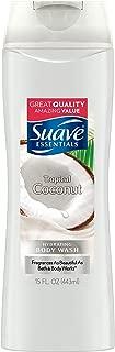 Suave Essentials Body Wash, Creamy Tropical Coconut, 15 Fl Oz, Pack of 6