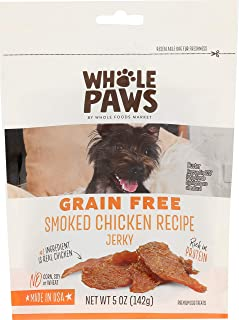 Whole Paws Grain Free Smoked Chicken Recipe Dog Jerky, 5 oz