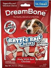 DreamBone Chicken Rattle Ball Dog Chew, Rawhide Chews