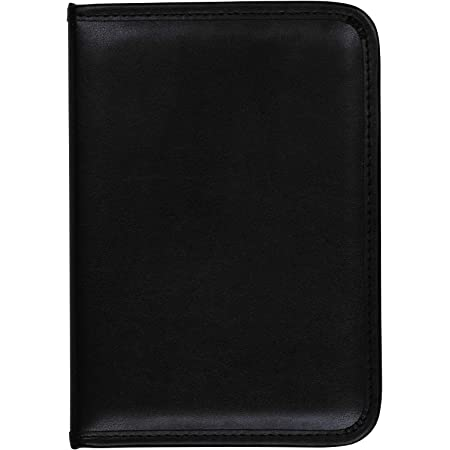 Samsill Professional - Carpeta de reanudación/cartera de negocios, almacenamiento de documentos, Negro, 5 Inch x 11 Inch