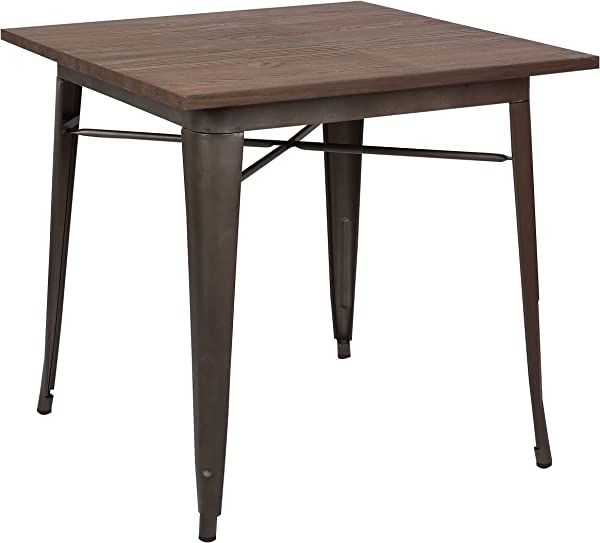 Poly And Bark Trattoria Dining Table In Elmwood Bronze